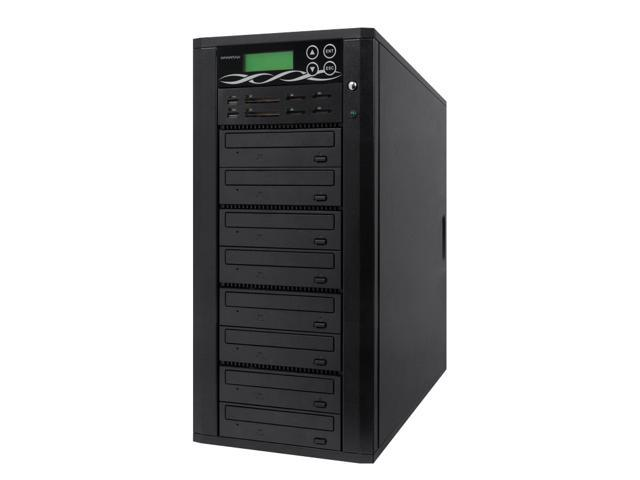 Spartan Media Mirror Plus Flash Memory & Disc to Memory/Disc Duplicator with 1-7 DVD/CD Burners (with Memory Stick (MS), CompactFlash (CF), Secure Digital (SD), USB Slots) M1007-SSP