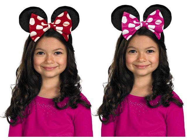 Disney Minnie Mouse Ears With Reversible Bow Costume Headband Child One Size
