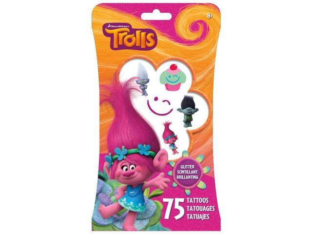 Glitter Tattoos - Trolls - Temporay 55ct Stationery tt3051