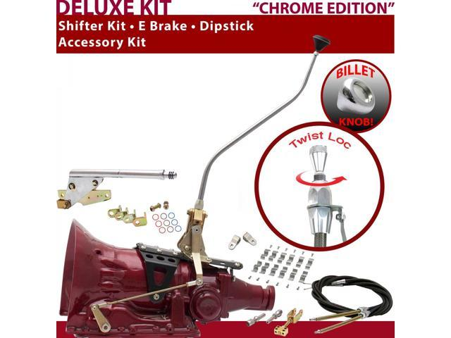 C4 Shifter Kit 23 Swan E Brake Cable Clamp Clevis Dipstick For F7E2D bronco comet ford monarch falcon cortina capri montego ltd cougar maverick torino lincolns f-series zephyr fairmont granada