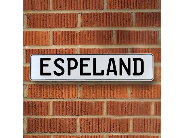 Vintage parts USA VPAY16CEA Espeland White Stamped Aluminum Street Sign Mancave Wall Art