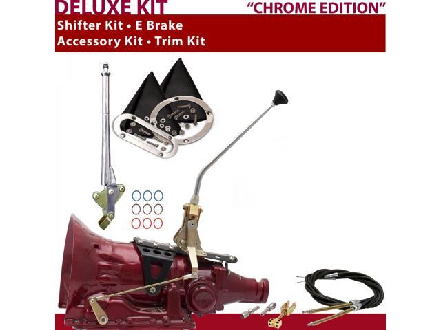 American Shifter Company ASCS1C4G41E0C TH400 Shifter Kit 12 E Brake Cable Trim Kit For D9752