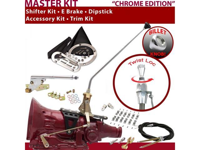 American Shifter Company TH350 Shifter Kit 16 E Brake Cable Clamp Clevis Trim Kit Dipstick For E72EB camaro chevrolet corvette chevelle gm blazer nova chevy truck malibu caprice monte carlo van