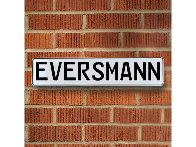 Vintage parts USA VPAY16DC3 Eversmann White Stamped Aluminum Street Sign Mancave Wall Art