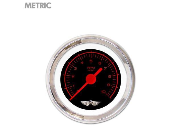 Aurora Instruments GAR230ZMAIABAE Delux Tachometer Gauge with wing - Competition Red Text, Blk, Red Vintage, DIY