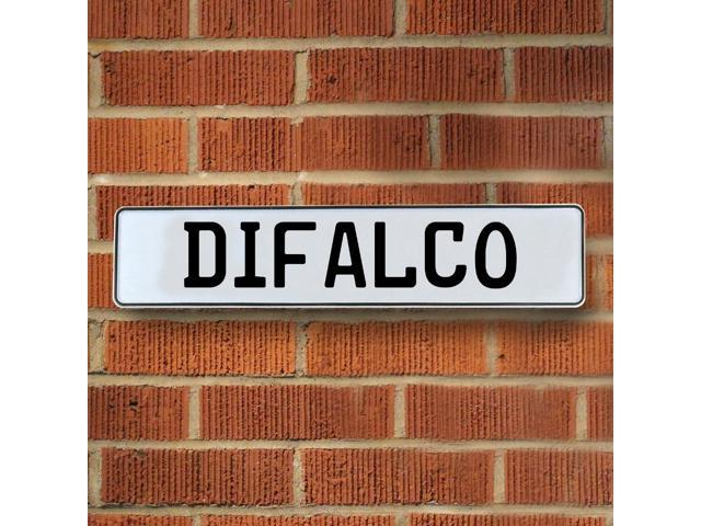 Vintage parts USA VPAY15FCF Difalco White Stamped Aluminum Street Sign Mancave Wall Art
