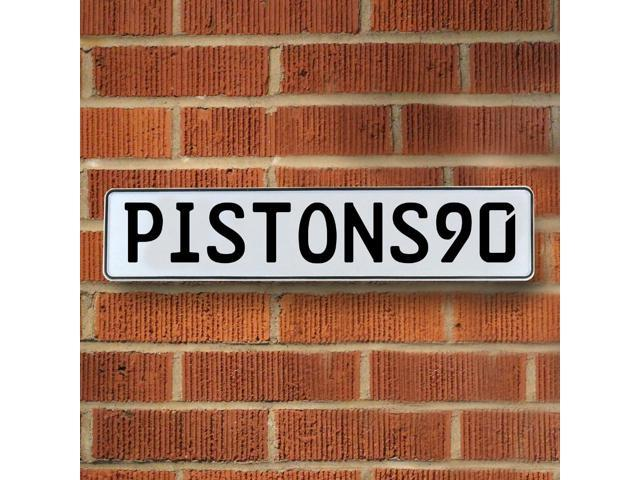 Vintage parts USA VPAYD1E PISTONS90 NBA Detroit Pistons White Stamped Street Sign Mancave Wall Art