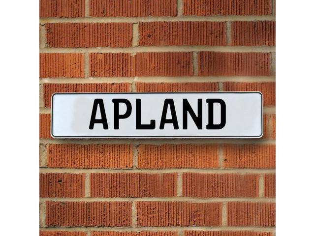 Vintage parts USA VPAYBC8A Apland White Stamped Aluminum Street Sign Mancave Wall Art