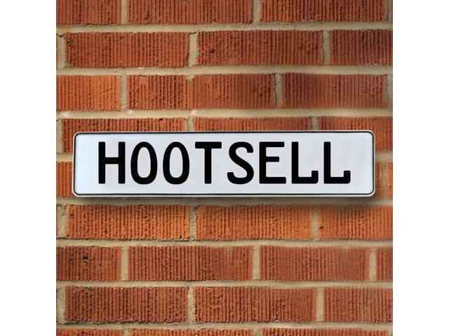 Vintage parts USA VPAY1C035 Hootsell White Stamped Aluminum Street Sign Mancave Wall Art