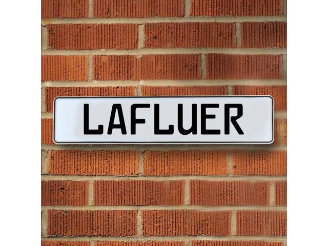 Vintage parts USA VPAY205CA Lafluer White Stamped Aluminum Street Sign Mancave Wall Art