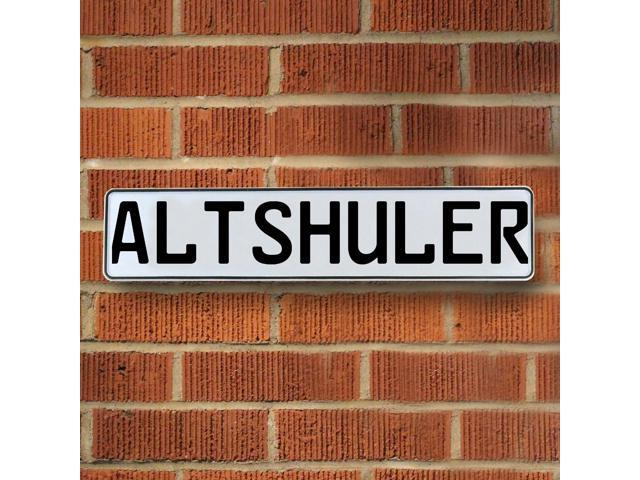 Vintage parts USA VPAYBA10 Altshuler White Stamped Aluminum Street Sign Mancave Wall Art