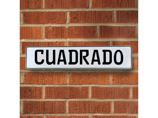 Vintage parts USA VPAY13B7F Cuadrado White Stamped Aluminum Street Sign Mancave Wall Art