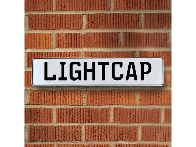 Vintage parts USA VPAY20F22 Lightcap White Stamped Aluminum Street Sign Mancave Wall Art