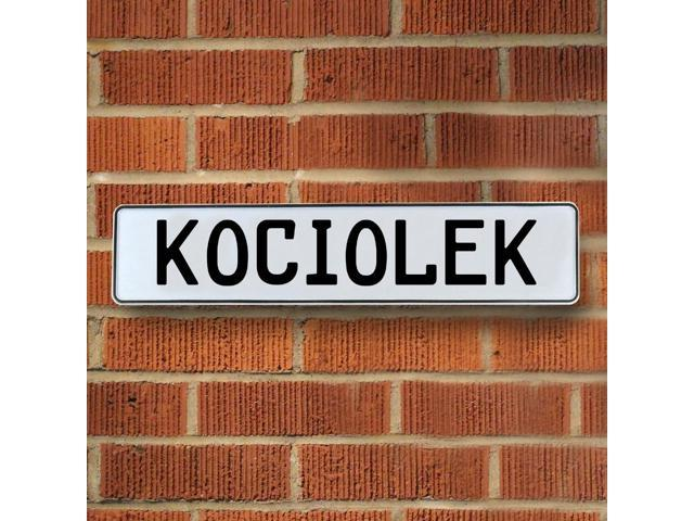 Vintage parts USA VPAY1FE8F Kociolek White Stamped Aluminum Street Sign Mancave Wall Art