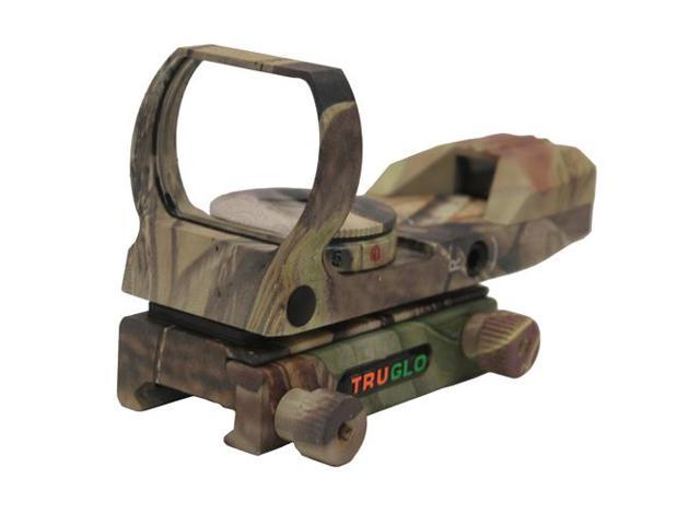 Truglo Dual-Color Open Red Dot Sight, Dual Color 5 MOA Dot Reticle, Camo 88959