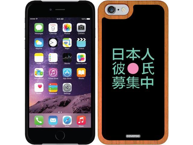 Coveroo Apple iPhone 6/6s Wood Thinshield Case with Japanese Boyfriend, Full-Color Design