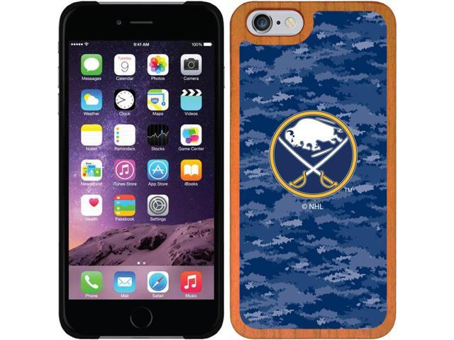 Coveroo Apple iPhone 6/6s Wood Thinshield Case with Buffalo Sabres Digi Camo, Full-Color Design