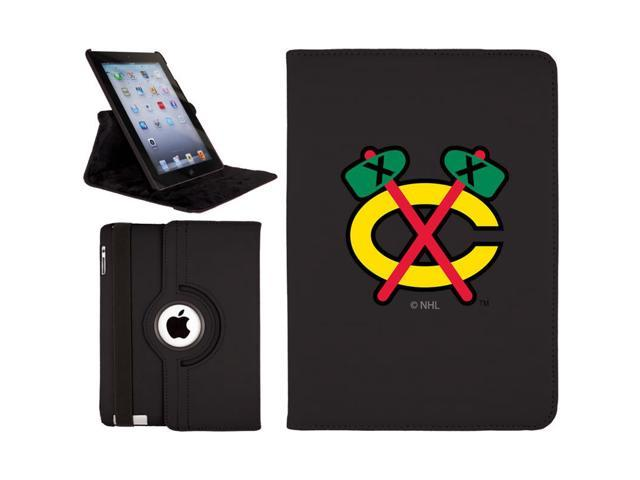 Chicago Blackhawks - Chicago C design on Black iPad Air (5th Gen iPad) Swivel Stand Case