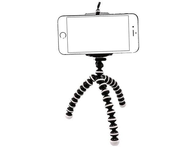 IPhone Tripod Tripod mount/stand,Phone Holder,Small&Light,Universal for iPhone 7/7 Plus,6/6s,6/6s Plus,SE/5s/5/5c,Samsung Galaxy S7/S7 Edge,S6/S6 Edge,Note 5/4/3&Cellphone,Camera[Black&White-Small]