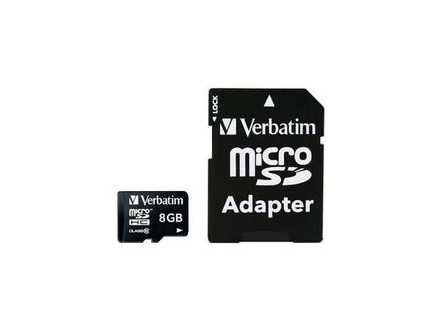 Verbatim 8GB Premium MicroSDHC Memory Card with Adapter, Class 10