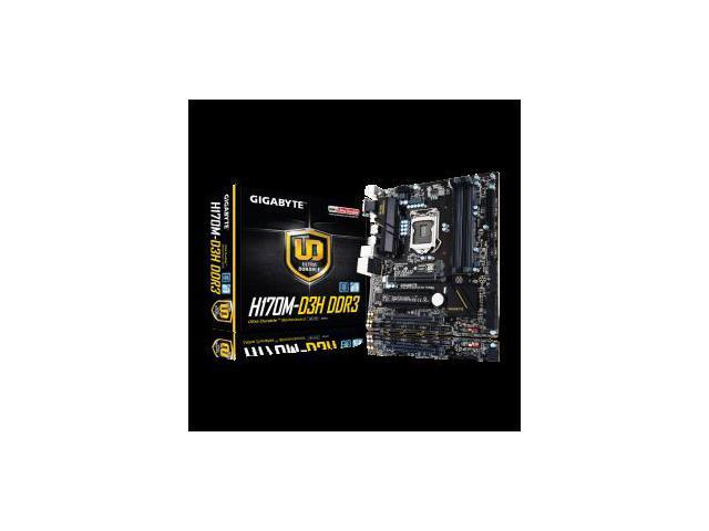 Gigabyte Motherboard GA-H170M-D3H DDR3 - 1151, H170, DDR3, PCIE, Micro ATX