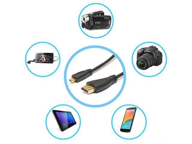 1080p HDMI to Micro HDMI Male Adapter Cable Cord for Tablet Phone Camera TV