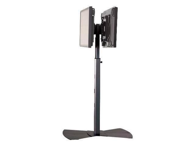 Chief MF2-UB Dual Flat Panel Display Floor Stand - Up to 250lb Flat Panel Display - Black