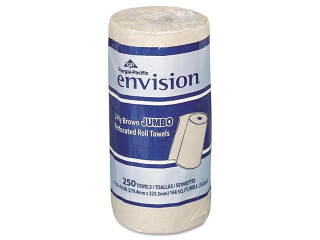 Georgia Pacific 28290 Envision Perforated Paper Towel- 11 x 8 7/8- Brown- 250/Roll- 12/Carton