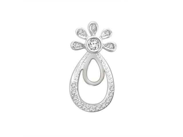 His & Her 0.09 Cts Diamond Pendant in 925 Sterling Silver (GH Color, PK Clarity) with 16