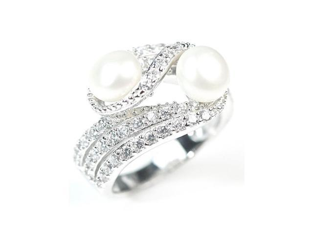 SR7817-6 Pascollato Jewelry Freshwater Pearls And CZ Stones Big Cockta