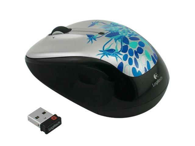 Logitech M325 Both-Hands 2.4GHz 1000 DPI Tilt Wheel USB RF Wireless Optical Mouse-Blue