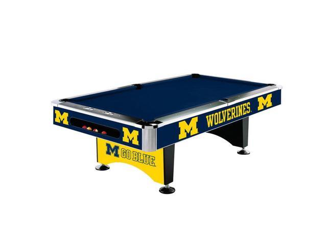 NCAA University of Michigan 8' Pool Table