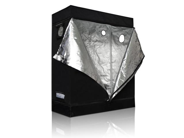 LAGarden™ 48 x 24 x 60 In. Indoor Grow Tent 100% Reflective Mylar Hydroponics Plant Room
