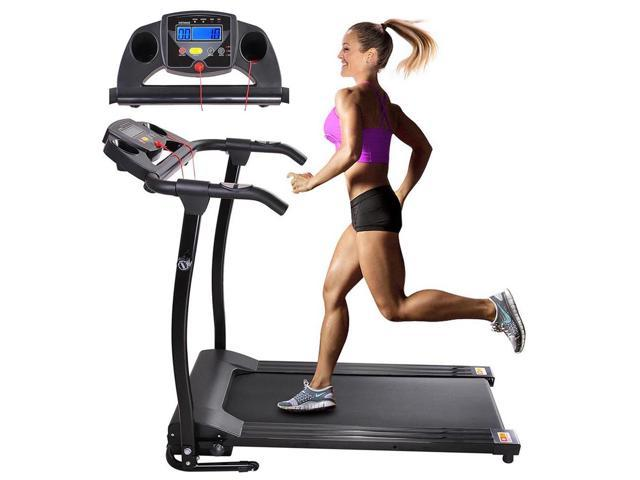 1100W Folding Electric Treadmill Portable Power Motorized Machine Running Jogging Gym Fitness