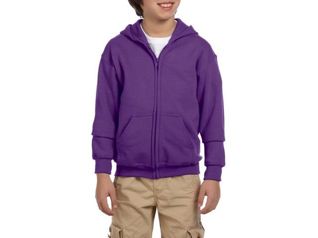 Artix I love My Awesome Wife Heavy Blend Youth Full-Zip Hooded Sweatshirt Youth Medium Purple