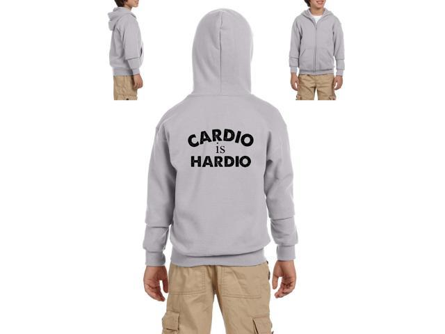 Artix Cardio is Hardio Gym Workout Fitness Exercise Sport Transformation Apparel Gift 4 Best Friend Christmas Halloween Healty Heavy Blend Youth Full-Zip Hooded Sweatshirt