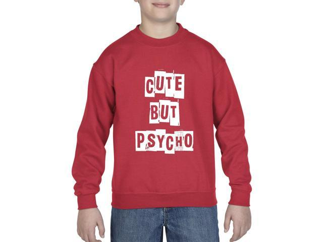 Artix Cute But Psycho Humor Sarcastic Slogans Gift 4 Halloween Xmas Valentine Day Girlfriend Birthday Gift 4 Her Anniversary Unisex Youth Kids Crewneck Sweater Clothing