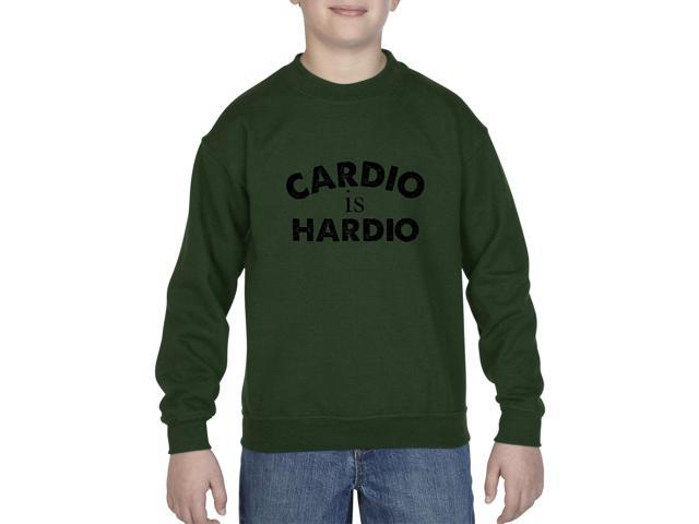 Artix Cardio is Hardio Gym Workout Fitness Exercise Sport Transformation Apparel Gift 4 Best Friend Christmas Halloween Healty Unisex Youth Kids Crewneck Sweater Clothing