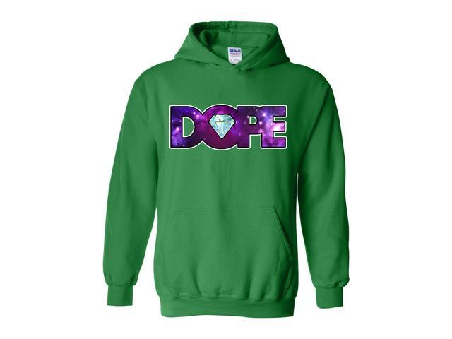 Artix Galaxy Dope Diamond Unisex Hoodie Sweatshirt Medium Irish Green