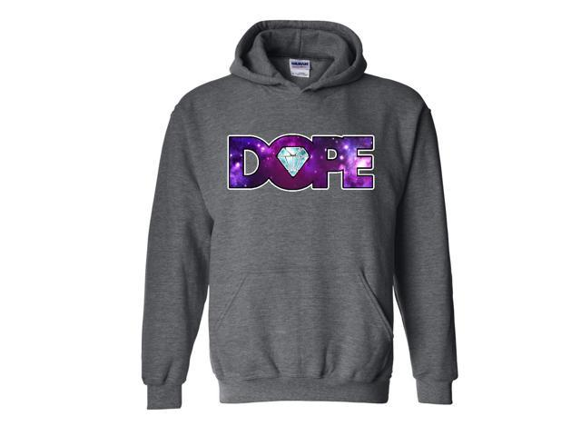 Artix Galaxy Dope Diamond Unisex Hoodie Sweatshirt Medium Dark Heather
