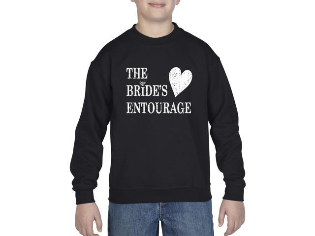 Artix Bride's Entourage Unisex Youth Kids Crewneck Sweater Clothing Youth Medium Black
