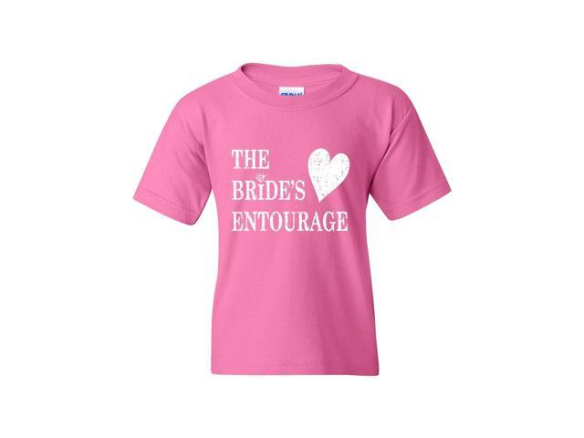 Artix Bride's Entourage Unisex Youth Kids T-Shirt Tee Clothing Youth X-Large Azalea Pink