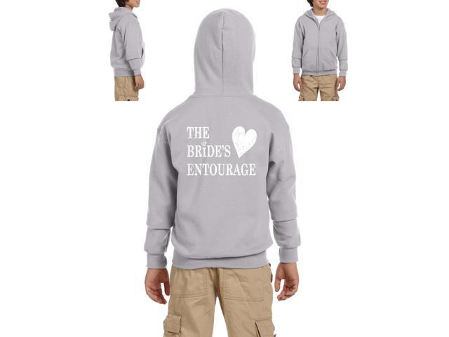 Artix Bride's Entourage Heavy Blend Youth Full-Zip Hooded Sweatshirt Youth Large Sport Grey