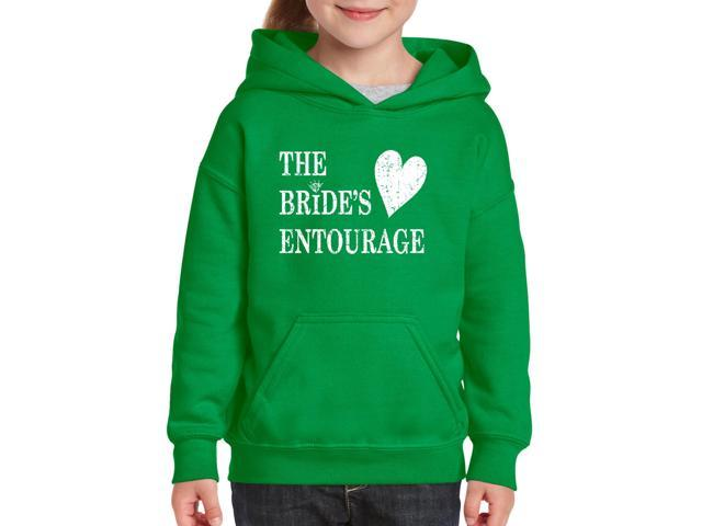 Artix Bride's Entourage Unisex Hoodie For Girls and Boys Youth Kids Sweatshirt Clothing Youth Large Irish Green