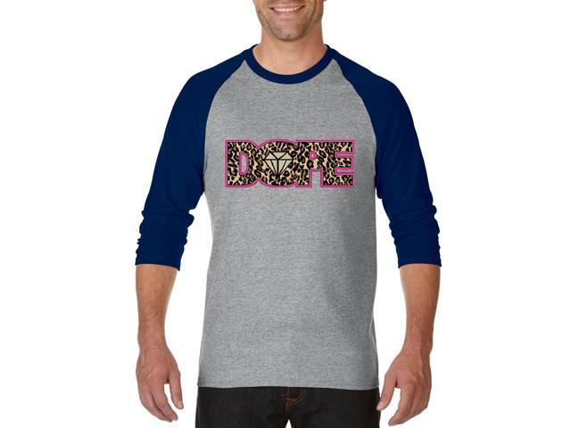 Artix Dope Diamond Cheetah Leopard Unisex Raglan Sleeve Baseball T-Shirt XXX-Large Heather Grey Navy