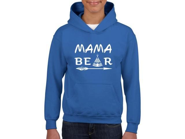 Artix Mama Bear Native Indian Pattern Unisex Hoodie For Girls and Boys Youth Kids Sweatshirt Clothing Youth X-Large Royal Blue