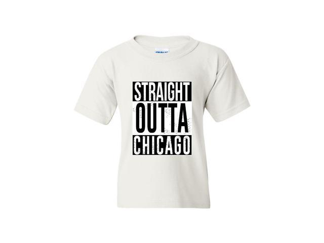 Artix Straight Outta Chicago Unisex Youth Kids T-Shirt Tee Clothing Youth X-Small White