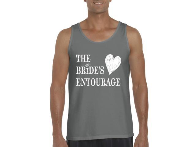 Artix Bride's Entourage Men's Tank Top Large Charcoal