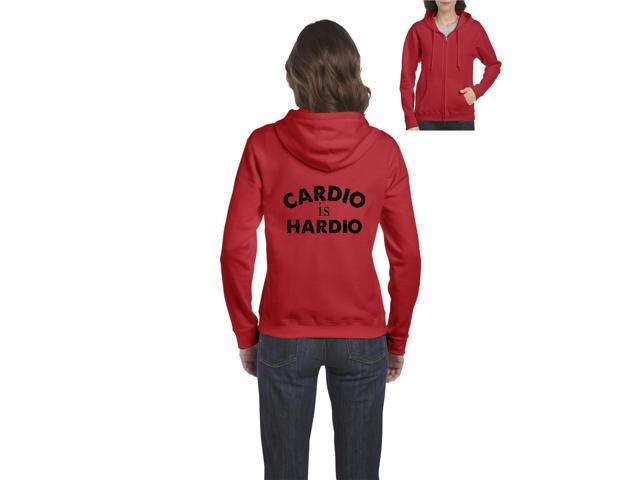 Artix Cardio is Hardio Gym Workout Fitness Exercise Sport Transformation Apparel Gift 4 Best Friend Christmas Halloween Healty Full-Zip Women's Hoodie Clothes