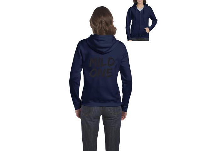 Artix Mild One Full-Zip Women's Hoodie Clothes XXX-Large Navy Blue